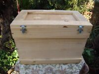 Heavy Duty Timber Storage Box. 21 x 14 x 12 inches.