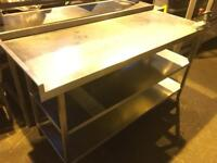 Commercial Stainless Steel Work Table - Work Table - Triple Shelf - Tin Opener