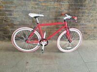 "MICARGI 24"" Single Speed Fitness junior Bike Fixed Gear Road Bike Frame Height 45 cm"