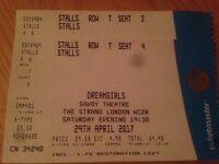 2 tickets Dreamgirls musical London