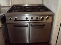 Falcon Dominator 6 burner gas cooker & electric fan oven