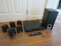 LG DVD Suround Sound Home Theater System + Sub Woofer + Remote