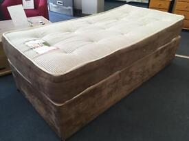 Single Divan Bed with Quality Mattress