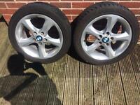 "BMW 1 series sport alloys 17"""