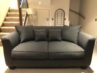 As new , still under stain fabric warranty sofa sofa kiplin 2 seater and 3 seater sofa bed