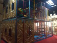 Large castle style soft play frame for sale, perfect for a new business idea