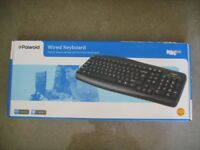 BRAND NEW Polaroid Stylish space-saving full function USB Keyboard