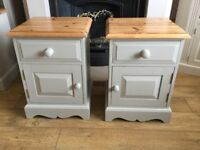 Solid Pine Painted Bedside Tables