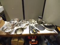 JOB LOT OF CATERING TOOLS SUIT CAFE OR RESTERANT