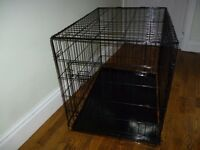 Pet/Dog Crate and Mat. Measures H71xW54xD76cm.