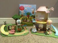 Sylvanian Families Windmill with figures, accessories, furniture and bonus Playground