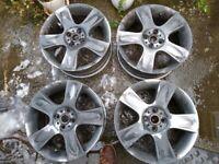 Mini Cooper 17 inch alloy wheels 4pcs R91 5 star Bullet Genuine Mini