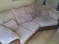 Large Brown Sofa.