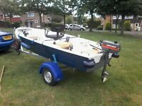 12ft aluminium fishing boat ( pike / river / lake ),
