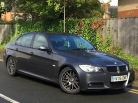 BMW 3 SERIES 2.0 320D M SPORT. 2006 *BLACK LEATHER SEATS *LONG MOT *FSH *HPI CLEAR *MAY PART EXCH