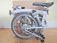 New & Boxed Brompton Folding Bike With Accessories