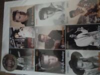 ELVIS PRESLEY STAMPS FROM TANZANIA, COLLECTABLES, 2 CARDS BOTH NUMBERED