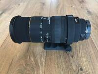 Sigma 50-500mm f4.5-6.3 EX DG HSM Lens for Canon EOS. Manual and fully automatic lens.