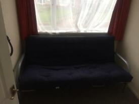 Large Navy Blue Sofa Bed - Free