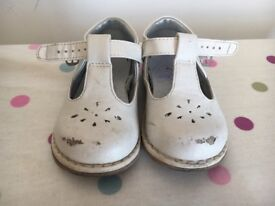 Girls ivory Mothercare shoes size 5 junior
