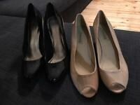 Two pairs of patent high heels size 8 bargain