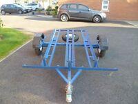 3 rails motorbike trailer