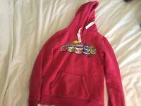 Pink girls hoodie campervan design