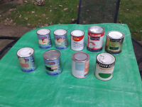 Nine (9) Tins of Paint Vintage / Antique / Retro ~~FREE LOCAL DELIVERY~~