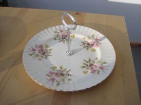 Royal Vale Vintage Bone China Cake Plate