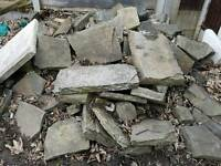 Large and small rockery garden stones