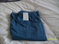2 PAIR OF ELASTICATED WAIST JEANS AND 2 PAIR SMART TROUSERS