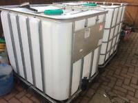 IBC water storage tank in good clean condition, collection from Helensburgh