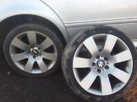 BMW 5 Series E39 E38 E60 18'' Genuine alloy wheels with tyres 225/40/18
