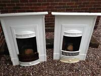 2 Original Cast Iron Fireplaces - Matching Pair