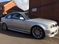 BMW E46. 325CI 2004. M SPORT 2 OWNER LOW MILEAGE!!! 79K, SAT-NAV, REVERSING CAMERA