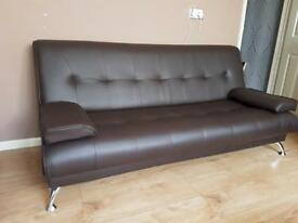Brown Sofa Bed Excellent Condition