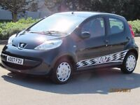 PEUGEOT 107 2007 1.0 URBAN MOVE £20 TAX 5 DOOR LIMITED EDITION LONG MOT