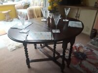 Solid Gateleg Candy Twist Dining table. Vintage/Retro/Space saving