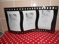 NEW - GLASS FILM REEL PHOTO FRAMES X2
