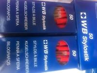 Box of 50 red inked biros