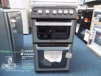 EX DISPLAY GRAPHITE ALL GAS HOTPOINT COOKER REF: 11663
