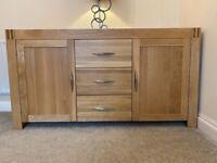Large solid oak sideboard