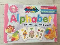 Alphabet flash learning cards