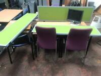 1400mm Lime Green Desk Partitions