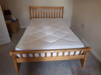 3/4 size pine bed with mattress