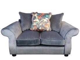 Nova Fabric 2 Seat Scatter Back Sofa - Grey