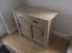 Solid oak sideboard.