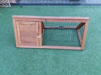 Guinea pig run with shelter. Solid wood.