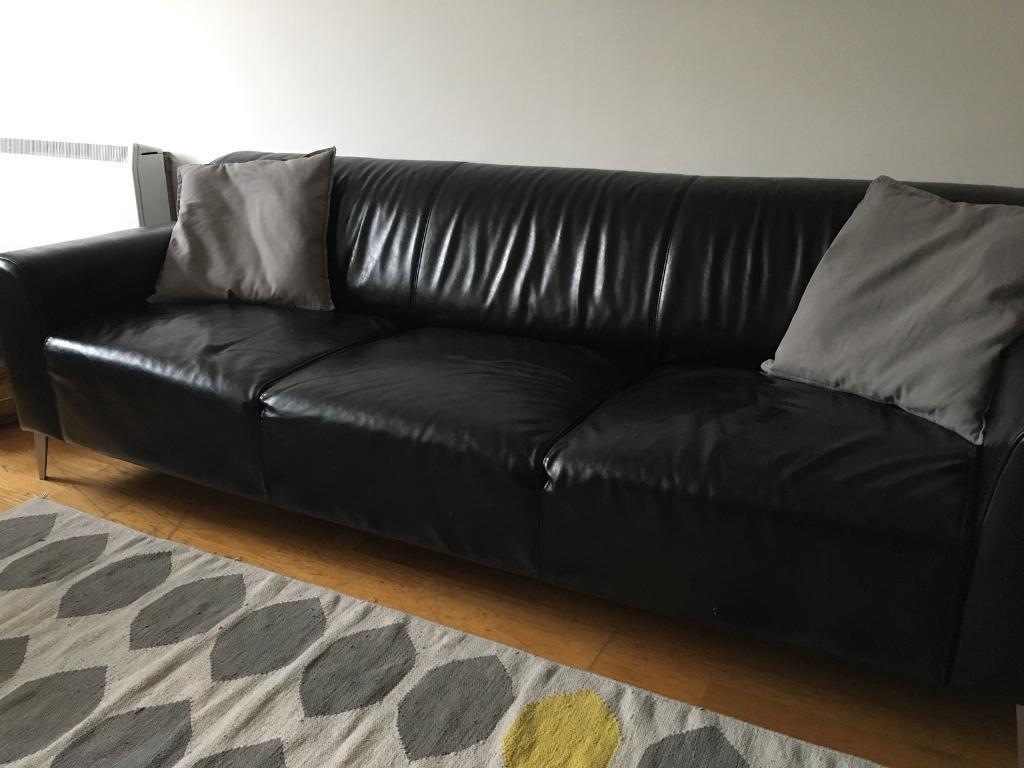 ILVA 3 Seater Leather Sofa