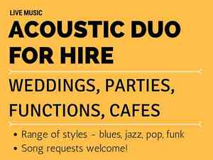 Acoustic Duo - Weddings, Function/Events, Gigs Thornbury Darebin Area Preview